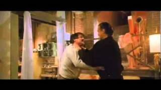 Steven Seagal is Detective Gino Felino in Out for Justice (1992), final 'boss' fight scene