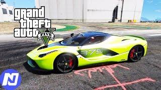 GTA 5 - Chạy siêu xe Ferrari LaFerrari đi ăn trộm xe và đua xe ở sân bay | ND Gaming