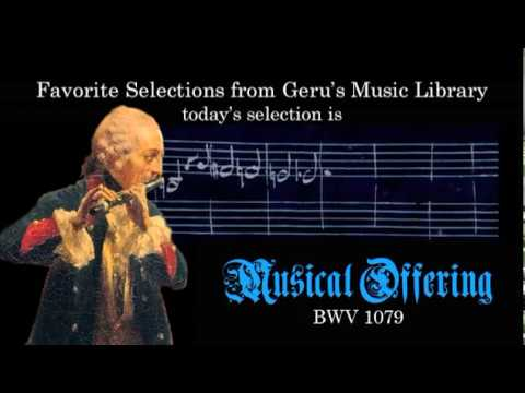 BWV 1079 - Musical Offering (Scrolling)