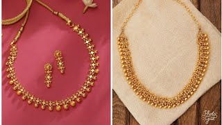 Simple Gold Necklace Designs