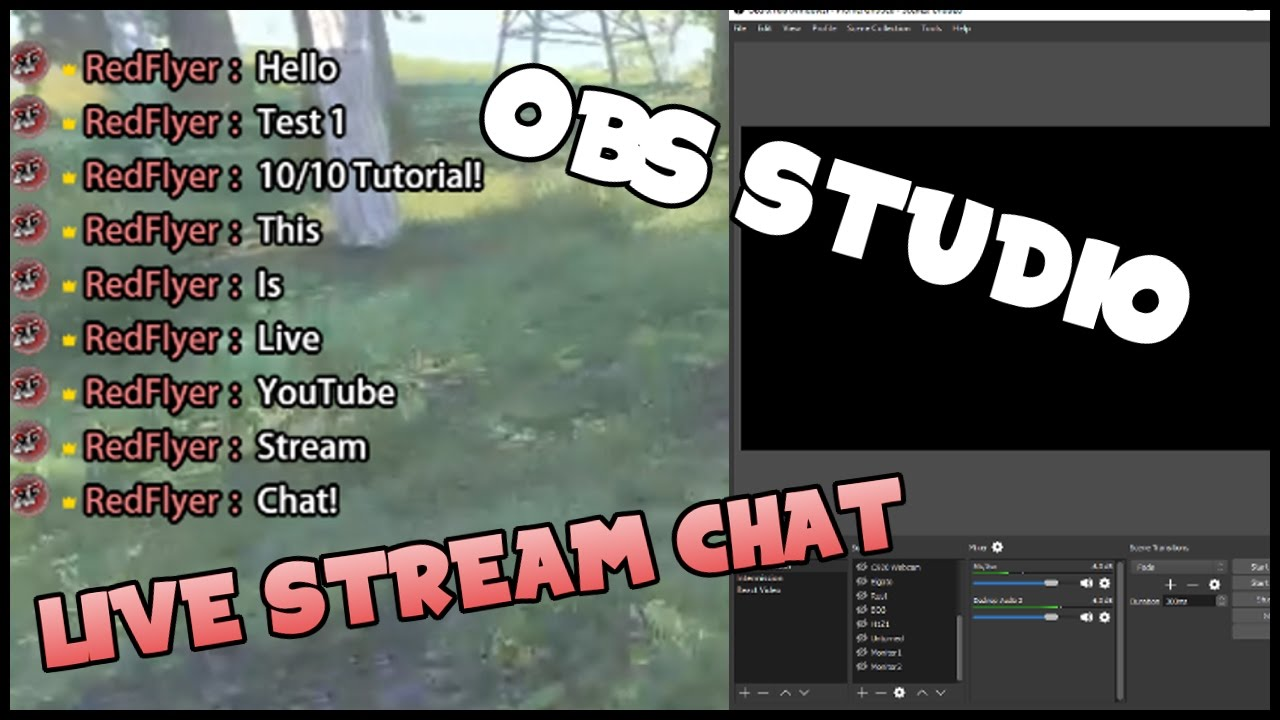 LIVE Chat on Screen - YouTube Livestreaming Chat! (OBS Studio)