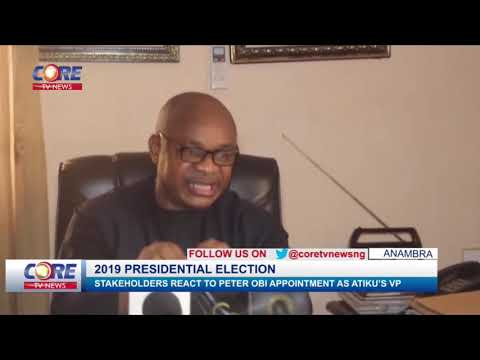 ANAMBRA STAKEHOLDERS REACT TO PETER OBI APPOINTMENT AS ATIKU'S VP...watch & share...!