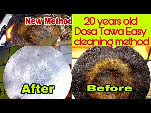 20 வருட பழமையான  தோசைக்கல் | தவாவை எப்படி புதிது போல் மாற்றுவது|TIPS|How clean  Old dosa tawa easy