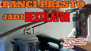 Download lagu (FULL PROCESS) MEMBUAT ALAT DESTILASI SEDERHANA (PENYULINGAN) DARI PANCI PRESTO