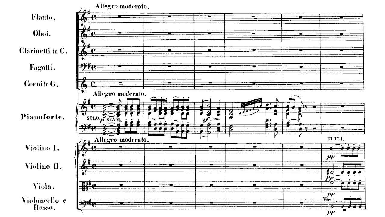 Piano Concerto No. 4 in G Major, Op. 58: Mvmt. 1 Sheet Music
