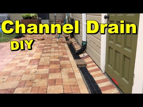 Driveway Channel Drain, Cut and Remove, DIY