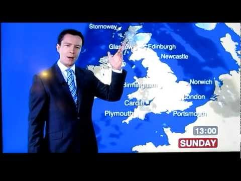 Unlucky BBC weather presenter swears C*NT accidently Live! Weather man Fail