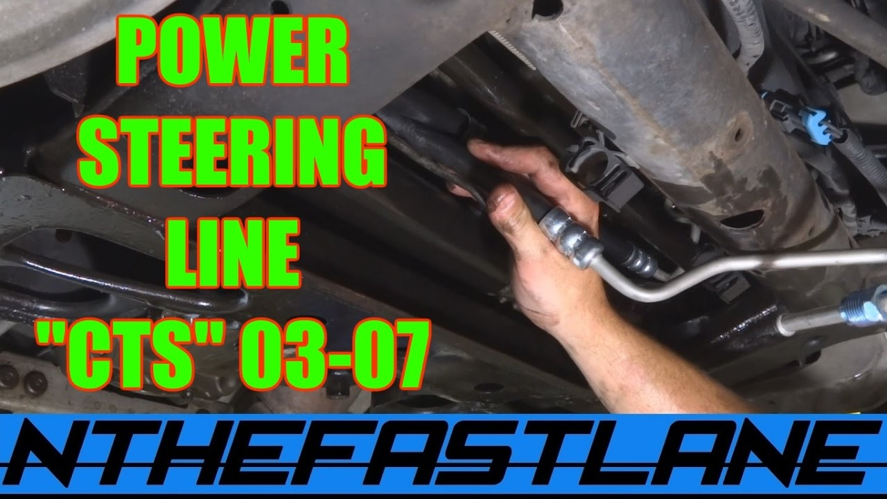 ️power Steering Hose Replacement Cadillac Cts 03 07
