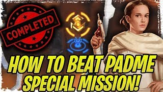 How to Beat Padme Special Mission in Phase 1 Republic Offensive WITHOUT Maxed Relics! | SWGoH