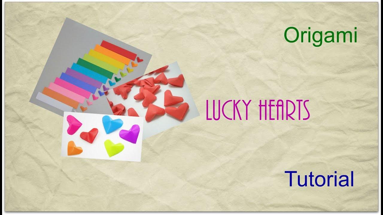 Origami Lucky Hearts Tutorial - YouTube - photo#8