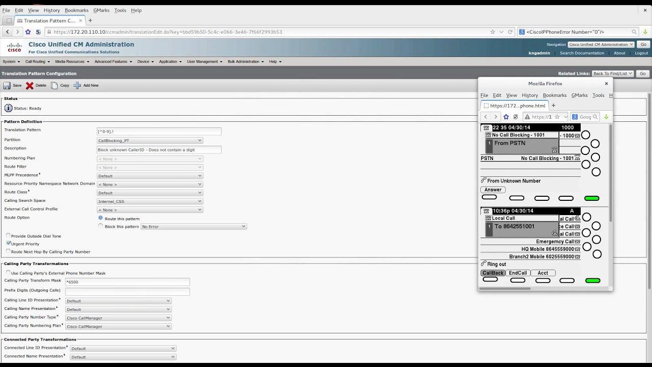 Cisco UCM - Blocking Unknown Calls