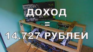 МАЙНИНГ ФЕРМА GTX 1070 8 GB (x4) ДОХОД = 14727 РУБЛЕЙ !