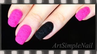 Бархатный маникюр в домашних условиях. Как сделать бархатные ногти | Velvet Nails