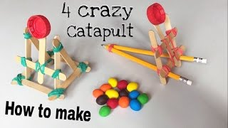 4 ways to Make the Simplest Mini Candy Launching Catapult