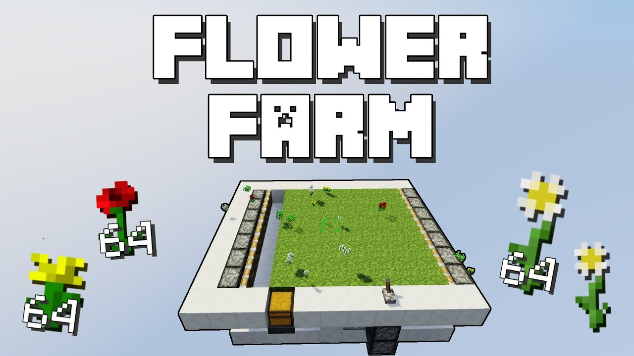 Minecraft Short Flower Farm Tutorial Youtube Fulldownload Minecrafthowtomakearedstoneclockcircuit