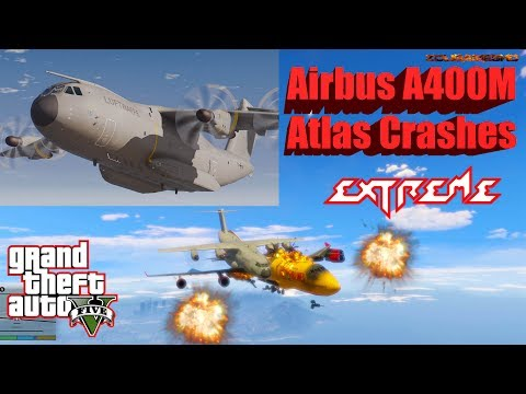 GTA V: Airbus A400M Atlas Plane Best Extreme Crash Compilation