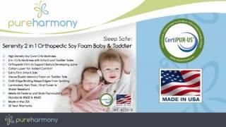 Pure Harmony Sleep Safe: Serenity 2 In 1 Orthopedic Soy Foam Baby & Toddler Crib Mattress