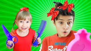 Alena and Pasha play beauty salon Compilation by Chiko TV