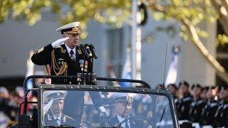 Наземная часть Парада Победы в Севастополе