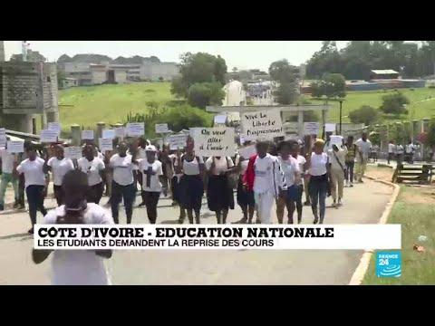 Côte d'Ivoire : les étudiants demandent la reprise des cours