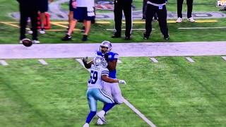 Cowboys Pass Interference Call Versus Lions WildCard Playoff 2014. The neglected FACE MASK @ 27s-30s