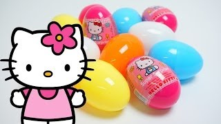 12 Surprise Eggs Unboxing Hello Kitty Special Edition