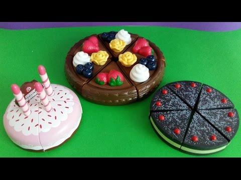 Toy Cutting Velcro Birthday Cake Strawberry Fruits Ice
