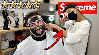 """I Went To The Best Reviewed HYPEBEAST Barber In My City!! *SUPREME HAIR DRYER"""" 