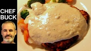 Country Fried Steak and Gravy ...aka chicken fried steak(This country fried steak recipe is easy to prepare and a great way to cook up an inexpensive cut of meat--and it tastes delicious. Cube steak refers to a cut of ..., 2013-10-17T16:48:18.000Z)