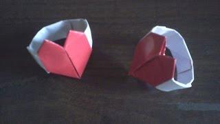 Origami Heart Ring- Anillo de Corazón de Papel