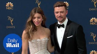Jessica Biel is stunning with Justin Timberlake at the Emmys