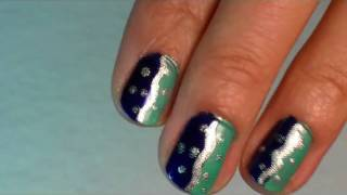 Ocean Blue Nails for Jaya :)  - Tutorial