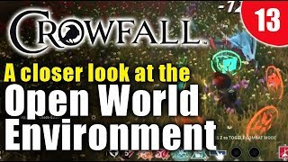 Crowfall gameplay - Exploring the open-world / environment