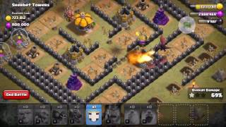 Clash of Clans - How to defeat Sherbert Towers at town hall 7 ( no cc or lvl 5 king needed)