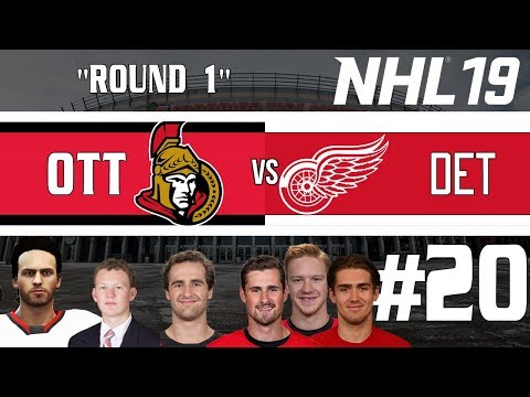 Round One/Red Wings - NHL 19 - GM Mode Commentary - Senators - Ep.20