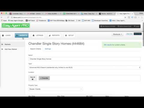 Creating Your  First InstaFarm & Saved Search On A LeadSite