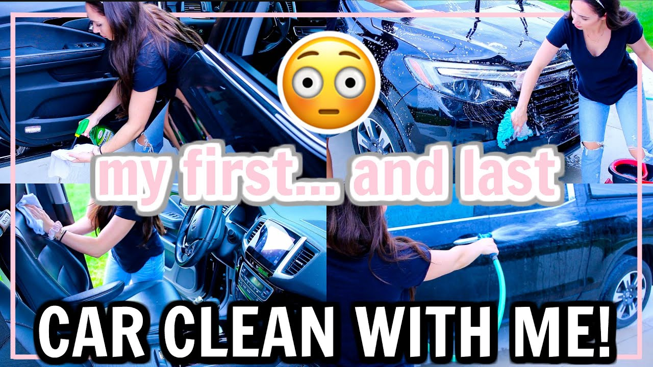 CAR CLEAN WITH ME 2020! WEEKEND CLEANING ROUTINE MOTIVATION! | Alexandra Beuter