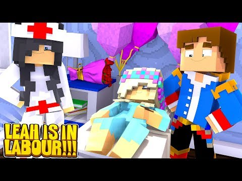 Minecraft LITTLE LEAH GOES INTO LABOUR!!!