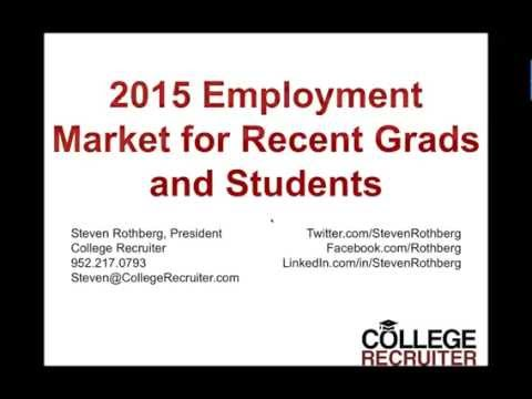 2015 Employment Market for Recent Grads and Students