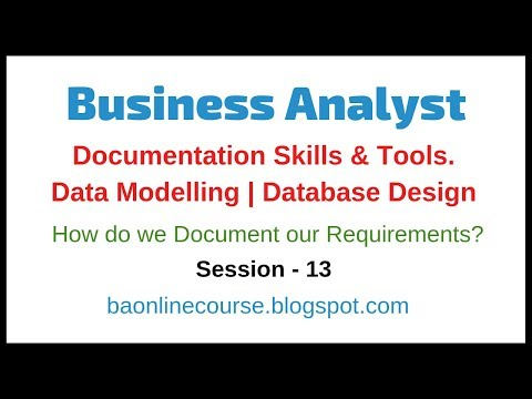 Business Analyst Documentation Skills and Data Modelling Tutorial | Database Design Tutorial thumbnail