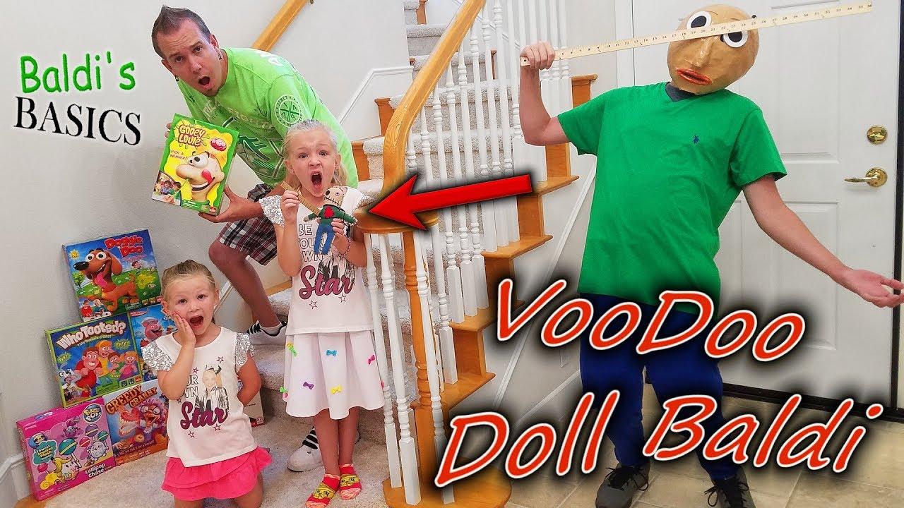 Baldi's Basics in Real Life VooDoo Doll!  Family Games Scavenger Hunt!!
