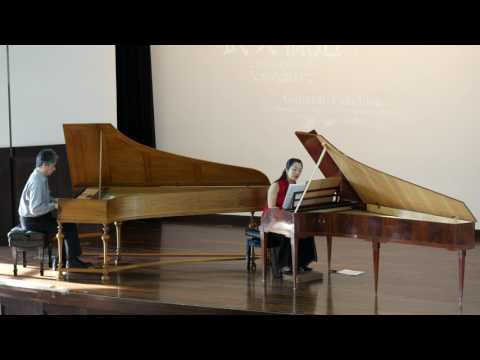 W.A.Mozart: Sonata for four hands on two Keyboards in D-major K.448, 2/3  the 2nd movement: 武久源造