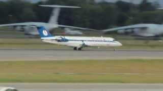Belavia CRJ-200 landing at Kiev Boryspil Airport (KBP) - Аэропорт Киев Борисполь