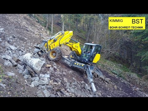 BST Kimmig: Schreitbagger-Einsatz am Steilhang