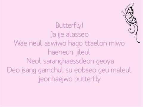 [To The Beautiful You OST] Jessica & Krystal - Butterfly Lyrics