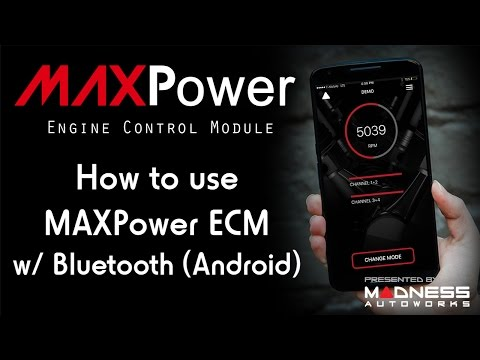 How To Use MAXPower ECM W/ Bluetooth - Android