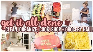 GET IT ALL DONE! CLEAN WITH ME, COOK WITH ME, SHOP WITH ME AT DOLLAR TREE + GROCERY HAUL