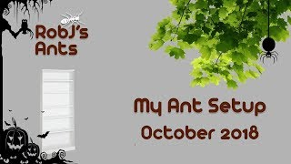 My Ant Setup (October Update 2018) Halloween Is Almost Here