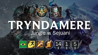 Tryndamere Jungle vs Sejuani - BR Challenger Patch 8.7