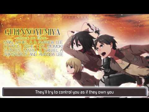 ENGLISH 'Guren no Yumiya' Attack on Titan (Daniel / AmaLee)